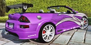 mitsubishi purple 2f2f edition 2003 mitsubishi eclipse spyder gts gta5 mods com