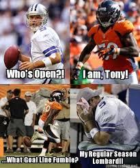 Romo Interception Meme - broncos win big d shootout lightning rod sports