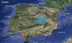 Spain Regions Map by Spain U2014 Tenzing