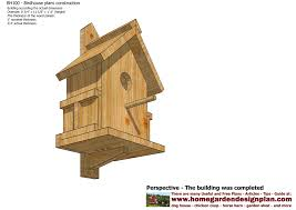 Free Building Plans For Garden Furniture by Home Garden Plans Bh100 Bird House Plans Construction Bird