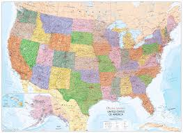 america map zoom united states of america political wall map xyz maps