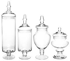 mygift large glass lid apothecary jars candy containers set