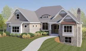 craftsman house plans with walkout basement craftsman house plan with rv garage and walkout basement