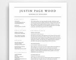 clean resume etsy