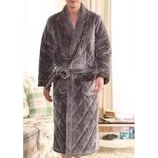 robe de chambre hommes robe de chambre homme matelassée gris liseret achat vente robe