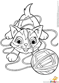 kitten playing with yarn clipart collection