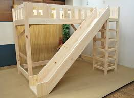 Wood To Make Bunk Beds by Wooden Loft Bed With Slide Perfect Way To Start Your Day