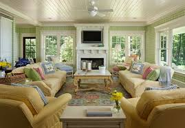 A Joyful Cottage  Cottage Style Living Rooms That Inspire - Cottage style family room