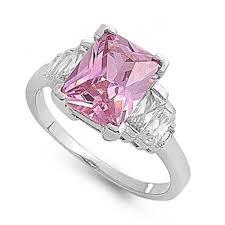 pink crystal rings images 3 80 carat rose pink swarovski crystal emerald cut baguette jpg