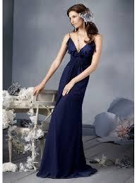 cheap desirable column dark blue v neck straps layers floor length