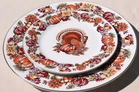 stoneware thanksgiving china dinnerware w turkey fall harvest