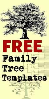 free family tree templates genealogy resources pinterest