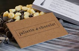 Recycle Paper Business Cards Brown Kraft W1s Business Cards Juliette U0026 Chocolat