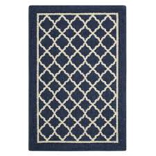 trellis navy sand accent rug maples rugs