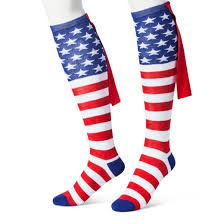 s knee high socks with cape stripes one size target