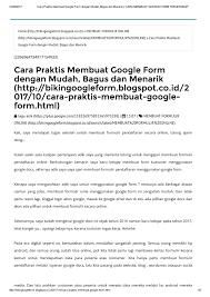 membuat form html online calaméo cara praktis membuat google form dengan mudah bagus dan
