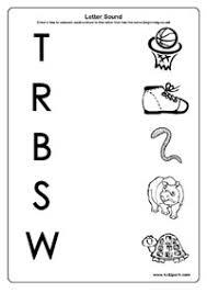 worksheet for kindergarten beginning letter sound kindergarten
