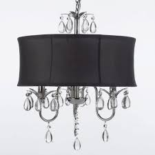 Black Chandelier Ls Black Wrought Iron Chandelier With Crystals Lowescement Acrylic