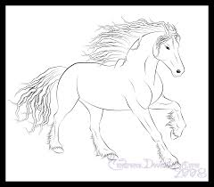 friesian horse colouring pages coloring pages pinterest