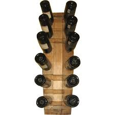 handmade wooden 12 bottle wine rack