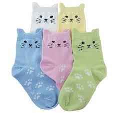 amazon com tandi kids girls cotton novelty cats crew no seam