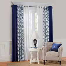 livingroom curtain ideas kendra sheer trellis pole pocket drape 50 x 84 blue layered