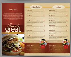 takeout menu template sle cafe menu template 18 documents in vector eps psd
