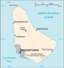 map usa barbados geography of barbados
