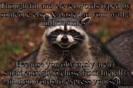 Thoughtful Memes - coon ass yours truly quickmeme