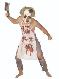 Ladies Clown Halloween Costumes Butcher Clown Costume 3259a Fancy Dress Ball