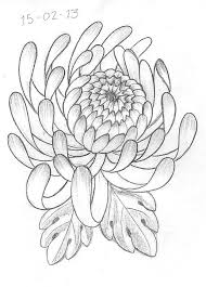 memorial chrysanthemum tattoo design