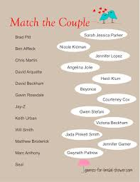 co ed bridal shower free printable match the couples