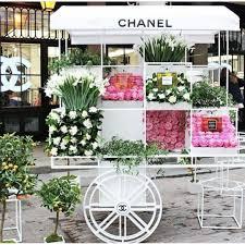 flower cart chanel flower cart commercial interiors exteriors