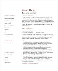 Teacher Assistant Resume Sample Skills by Teacher Resume Examples 23 Free Word Pdf Documents Download