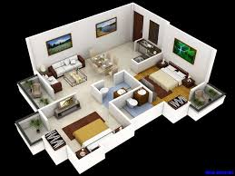 25 more 3 bedroom 3d floor plans simple house designs small luxihome