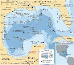 map of the gulf of mexico gulf of mexico bathymetric features gulf of mexico maps