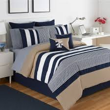 Navy Blue And Gray Bedding Stripe Comforter Sets For Less Overstock Com