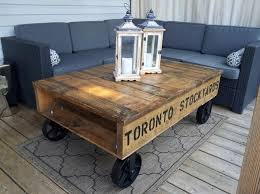 Wooden Pallet Coffee Table Pallet Coffee Table With Wheels Awesome Ideas Pallets Designs
