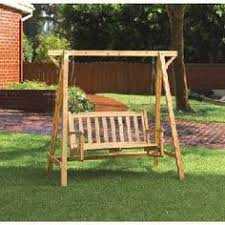Wooden Garden Swing Seat Plans by Easy Swinging Arbor With Swing Woodworking Plan From Wood Magazine