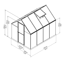 Greenhouse 8x8 Poly Tex Palram Nature Series Hybrid Hobby Greenhouse 6x8
