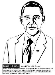 president barack obama coloring crayola