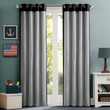Black And Grey Curtains Buy Black Window Curtains Valances From Bed Bath Beyond