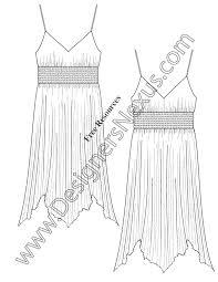 free fashion downloads illustrator dress flat sketches