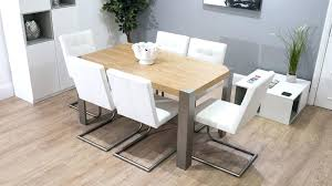 Modern Oak Dining Tables Dining Table Leather Chair Dining Table With 6 Leather Chairs For