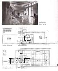 Frank Lloyd Wright Inspired House Plans by Bachman Wilson House 1423 Millstone River Road Millston New
