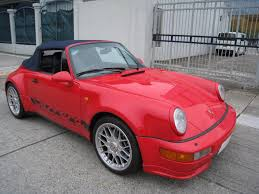 porsche 964 red exclusive motors porsche 964 turbo look cab