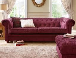 Chenille Chesterfield Sofa by Elegant Chesterfield 3 Seater Chenille Fabric Sofa Fuchsia Or