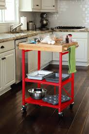red kitchen island cart marvelous maple wood ginger raised door small kitchen island cart