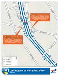 Interstate 26 Map I 10 Closures This Week Krwg