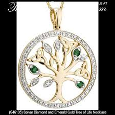 diamonds gold necklace images Gold tree of life necklace with emeralds and diamonds jpg